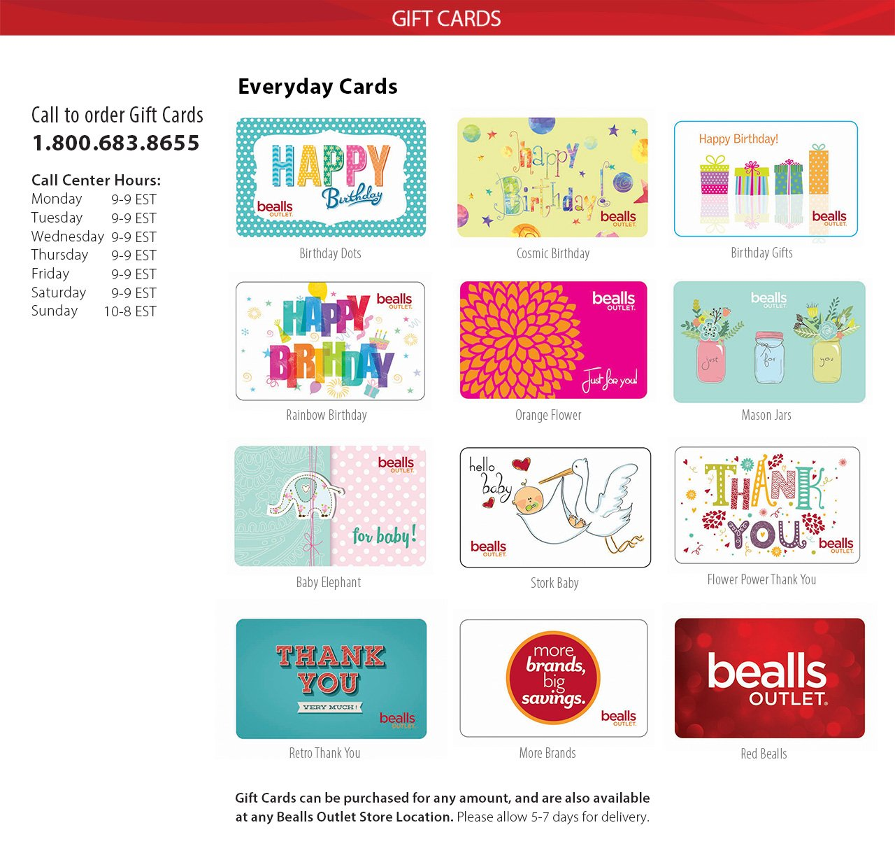 Bealls Outlet Giftcards